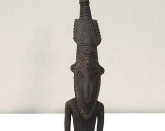 Papua New Guinea Paddle Top Wood Figure Murik Lakes