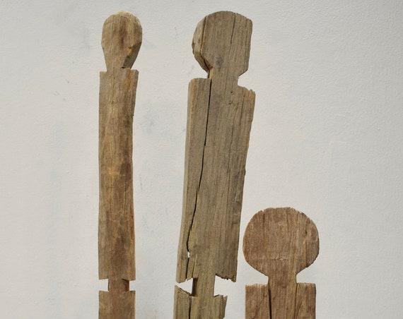African Statue Giryama Funeral Post Kenya Ancestor Carved Wood Head Post