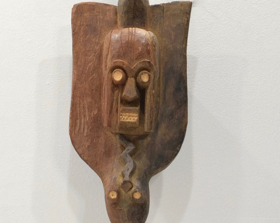 African Mask Mambila Wood Animal Mask 27.5""