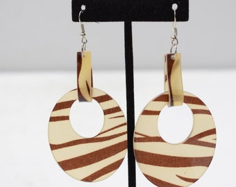 Earrings Brown Animal Print Earrings