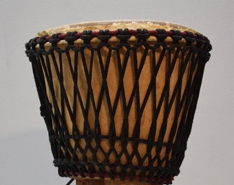 African Drum Djembe Wood West Africa Handmade Musical Vintage Community  Celebration Dancing Djembe Drum
