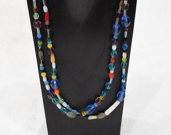 Necklace India Glass Long Bead Necklace