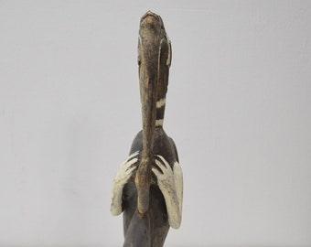 Papua New Guinea Bird Wood Statue Sabut Creation Myth Bird Protecton Creation Knowledge Bird