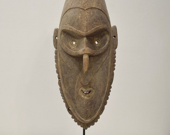 Papua New Guinea Passam Mask Murik Lakes Lower Sepik River Spirit Mask