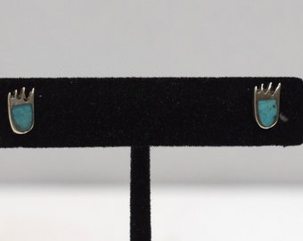 Earrings Turquoise Silver Southwest Stud Earrings