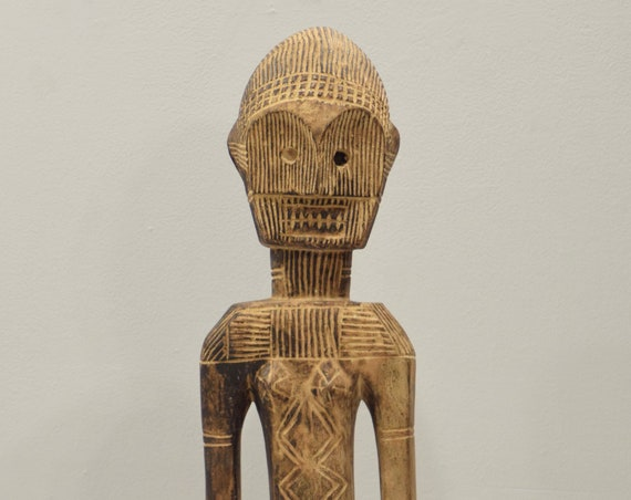 African Statue Mbaka Tribe Etched Statue