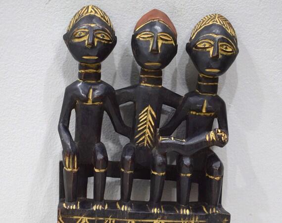 African Comb Large Ashanti Female Wood Hair Comb Ghana Presitge Status Comb