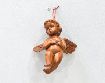 Cherub Angel Wood Carved Statue Philippines