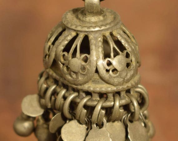 """Beads Bell Silver Kuchi Belly Dancing Jewelry Middle Eastern Kuchi Bell 2"""""""