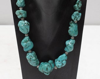 Necklace Stabilized Turquoise Nugget Necklace