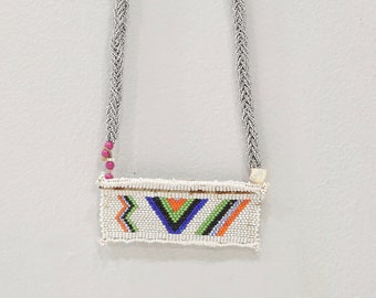 African Zulu Love Letter Beaded Square Necklace Poem Lovers Beaded Necklace