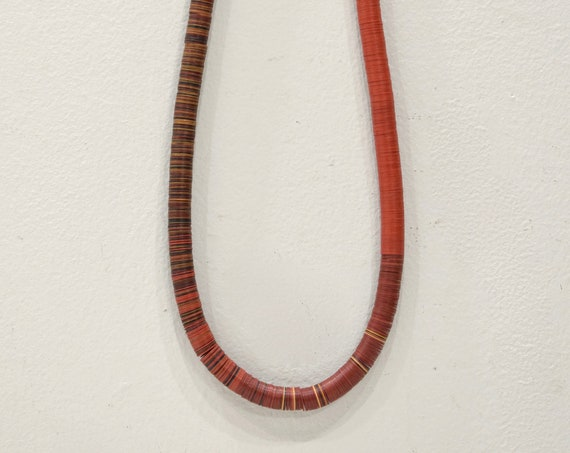 Necklace African Tribal Vinyl Record Bead Necklace Mali