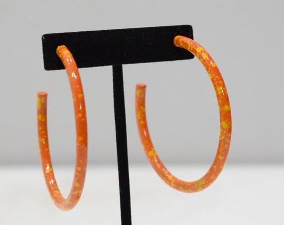 Earrings Painted large Hoop Earrings