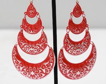 Earrings India Red Tier Earrings