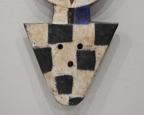 African Mask Bedu Ivory Coast Ghana Geometric Pattern Bedu Mask