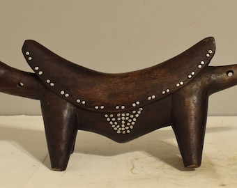 African Dinka Studded Headrest