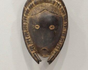 African Mask Koulango Tribe Wood Mask