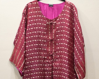Jacket Silk Red Brocade Jacket