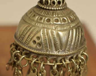 Beads Silver Kuchi Bell Large Belly Dancing Jewelry Middle Eastern Kuchi Bell 4""
