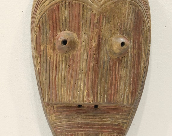 African Mask Lega Tribe Congo Wood Ceremonial Carved Lega Mask