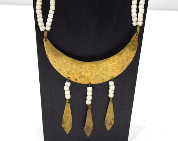 Necklace Africa Turkana Brass Pendant Necklace 25""
