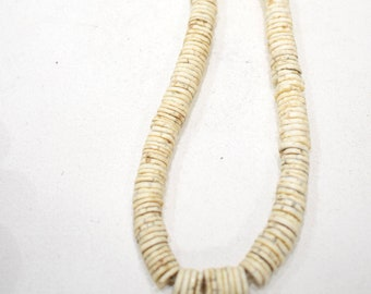 Beads African Old Ostrich Eggshell Trade Beads 24""