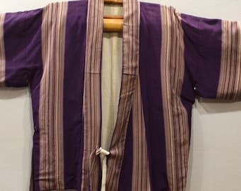 Kimono Japanese Purple Stripe Kimono