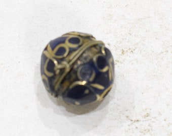 Beads Lapis Middle Eastern Brass Round Beads 22mm