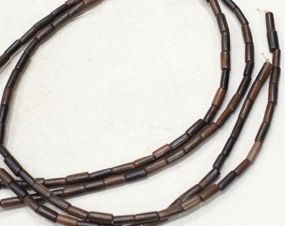 Beads Philippine 2 Brown Ebony Wood Sticks 4-5mm