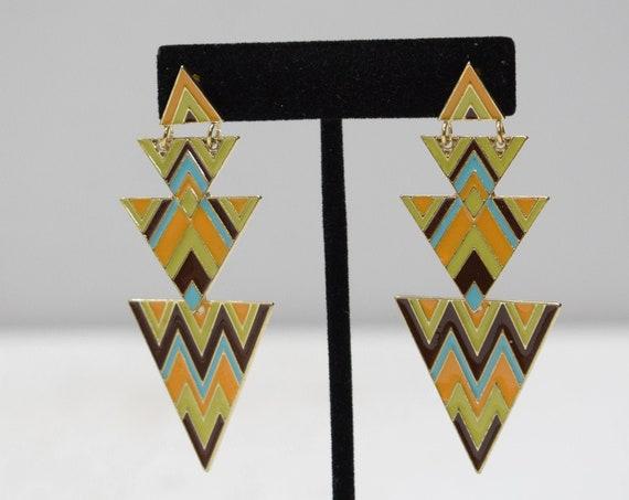 Earrings Colorful Deco Post Earrings