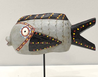 African Bozo Painted Puffer Fish Puppet