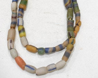Beads African Assorted Sandcast Glass Beads 8-18mm #11