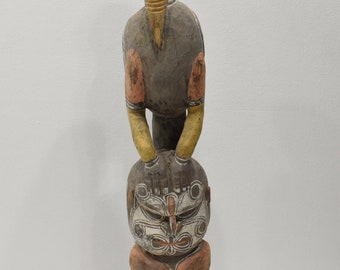 Papua New Guinea Bird Man Wood Statue Sabut Statue