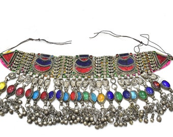 Belt  Afghanistan Silver Glass Belly Dance Belt
