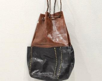 African Purse Tuareg Leather Tote Bag