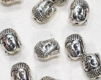 Beads Chinese Silver Buddha Beads 12-13mm