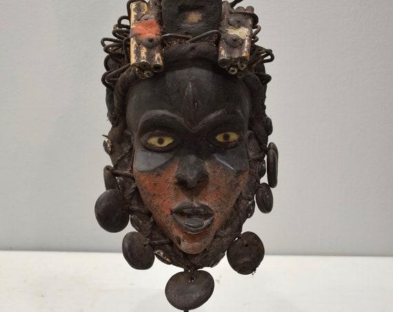 African Mask Bakongo Tribe Ritual Wood Mask