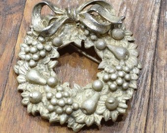 Pin Christmas Silver Wreath Piin