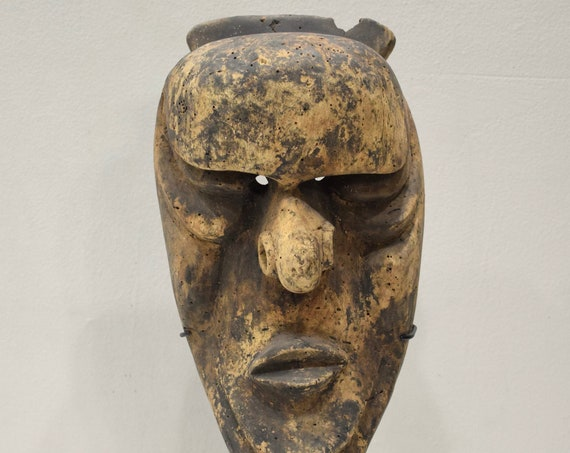 Papua New Guinea Mask Vanuatu Dance Wood Male Initiation Ceremony Mask