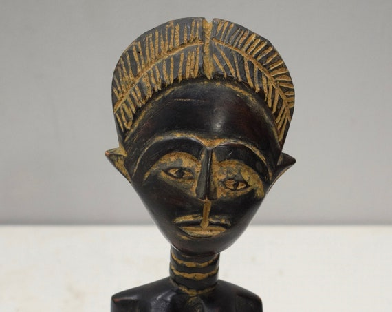 African Ashanti Doll Female Figure Ghana Fertility Doll