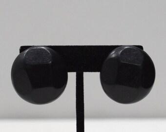 Earrings Philippines Black Wood Clip Earrings