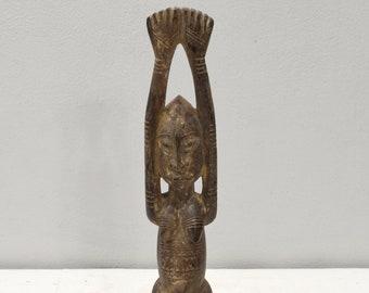 African Dogon Female Wood Statue Mali