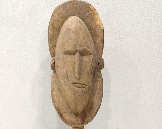 Papua New Guinea Yena Yam Spirit Wood Mask Abelam Tribe
