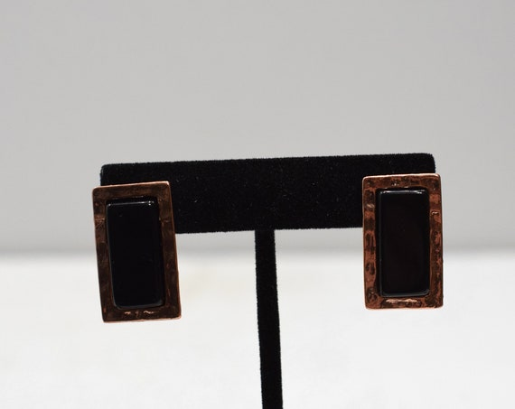 Earrings Hammered Copper Post Earrings