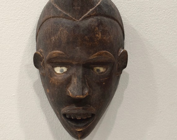 Mask African Bakongo Initiation Mask 10.5""