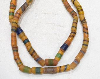Beads African Assorted Sandcast Glass Beads 12-16mm #5