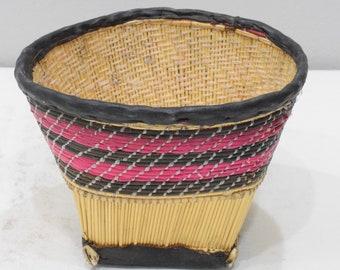 Basket African Reed Rattan Basket