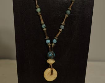 Necklace Chinese Turquoise Tiger Coral Pendant Beads Southwest Style Necklace Jewelry