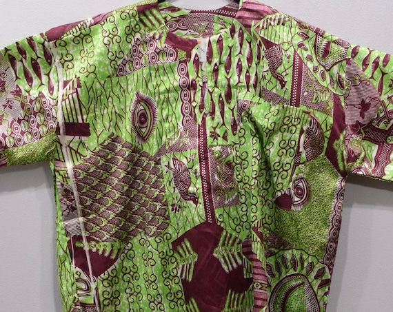 Shirt African Cotton Print Dashiki