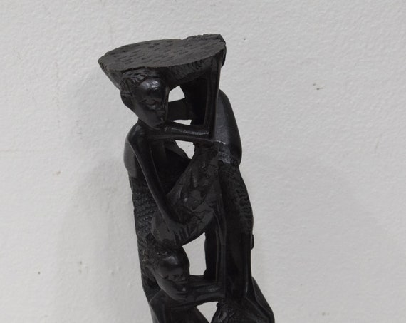 African Statue Abstract Ebony Tree of Life Makonde Tanzania